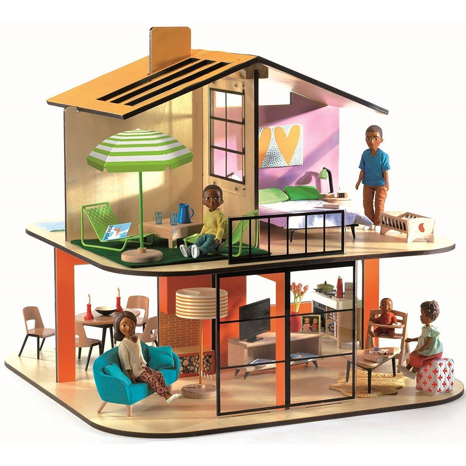 djeco colour house playset best dollhouses