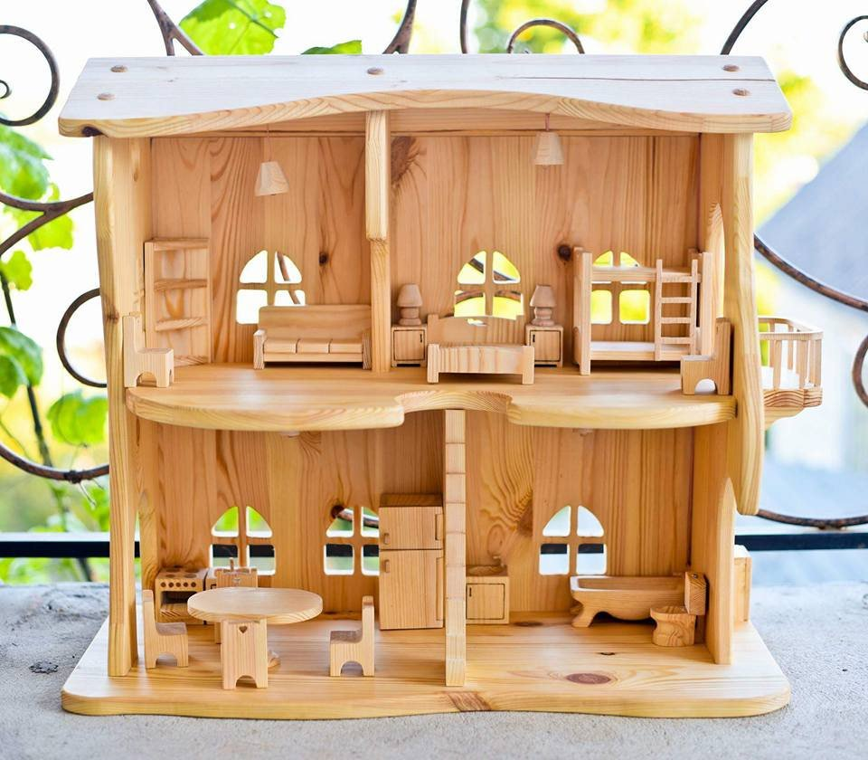 montessori dollhouse wood
