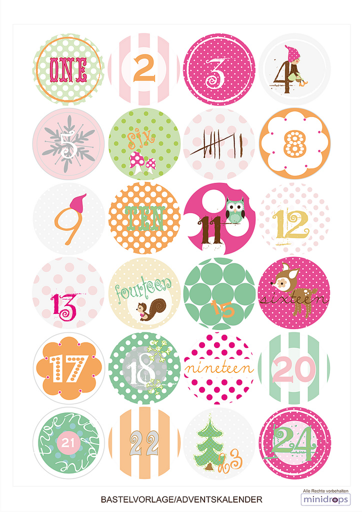 advent calender printable tags freebie paul paula. Black Bedroom Furniture Sets. Home Design Ideas