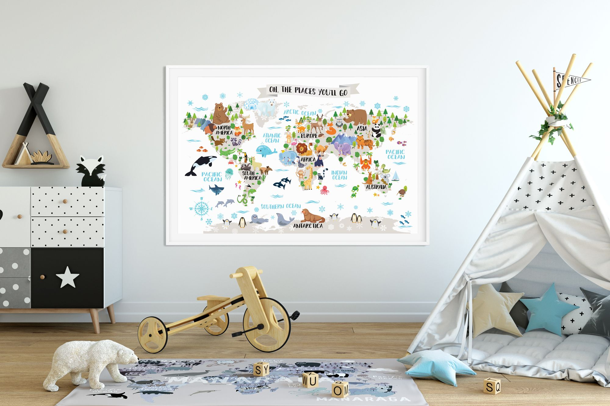 World maps for the kids room - Paul & Paula