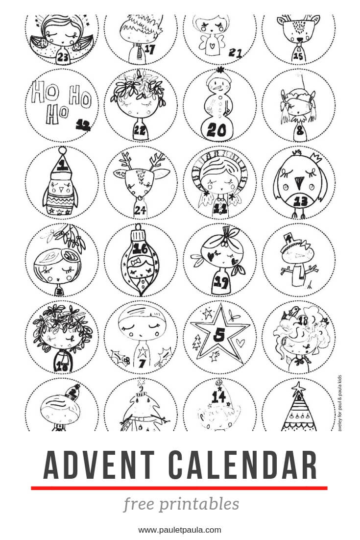 advent calendar free printables