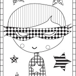 boy colouring page