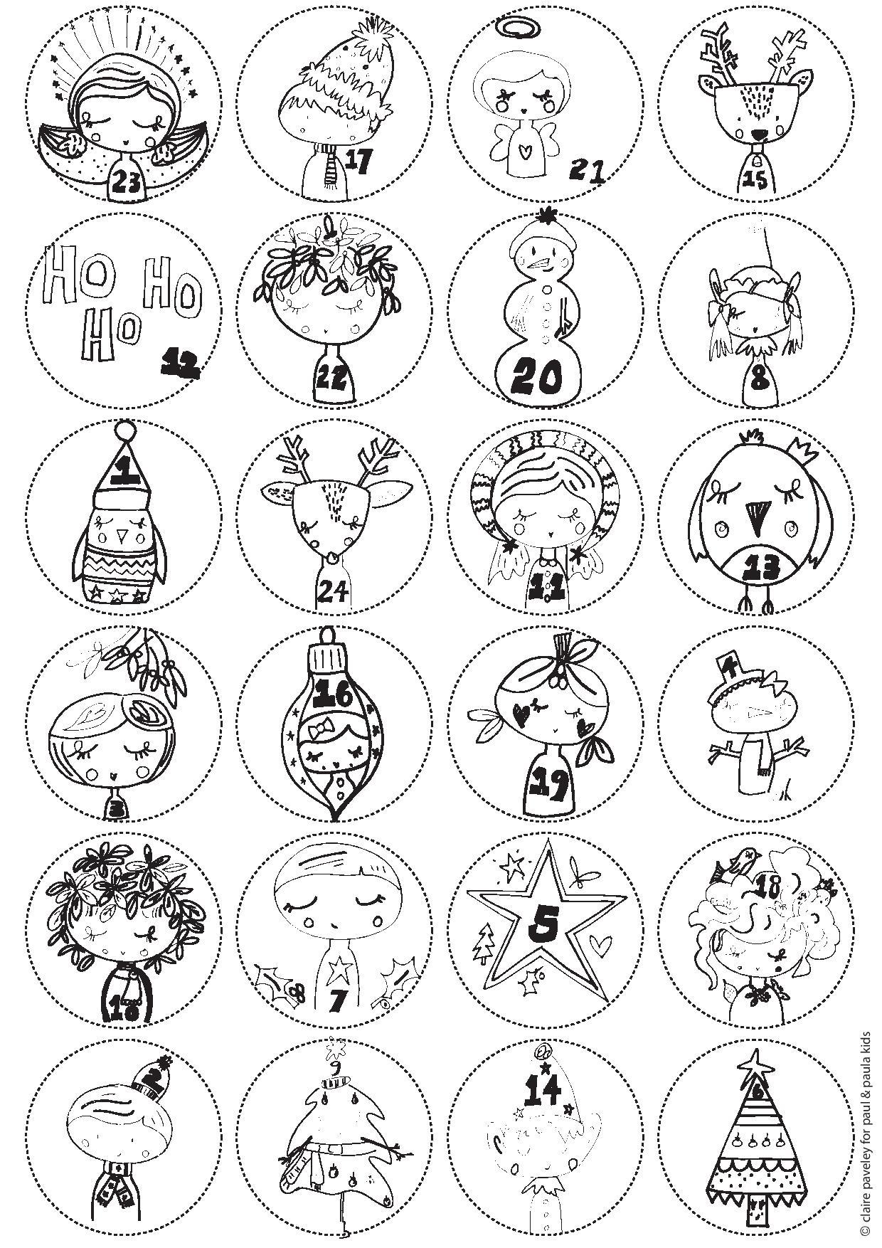 Advent Calendar Printables : Advent calendar free printable paul paula