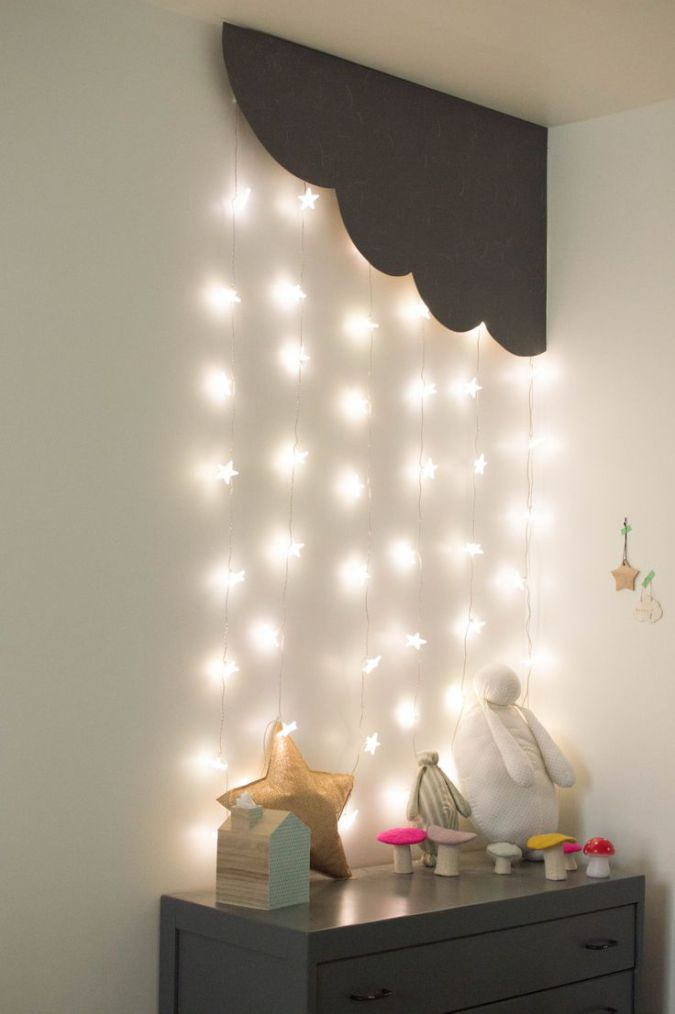 cloud and stars kids room