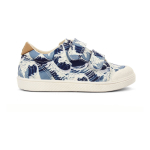 sneakers with wave print