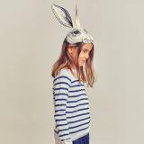 felt rabbit head hat