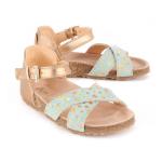 Star Suede Sandals Almond green