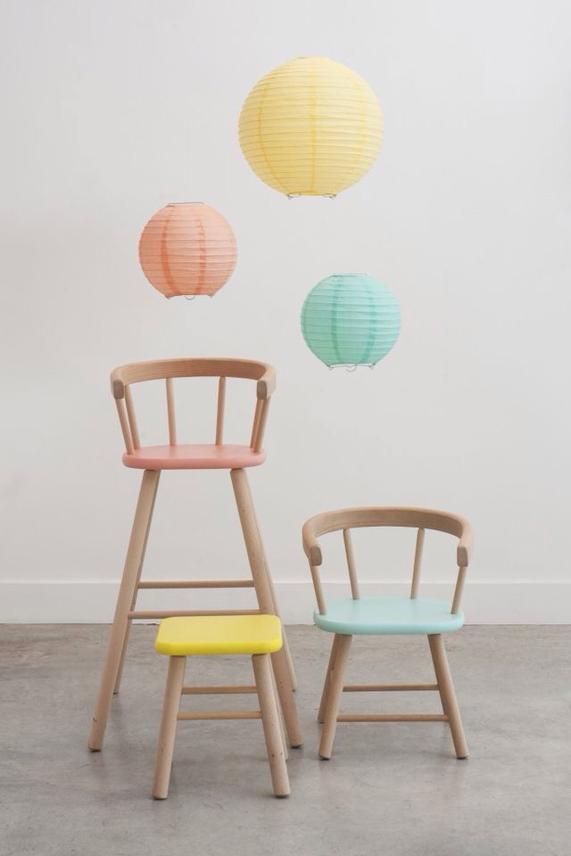 ice cream colored kids chair
