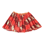 Mona Floral Checked Skirt Red