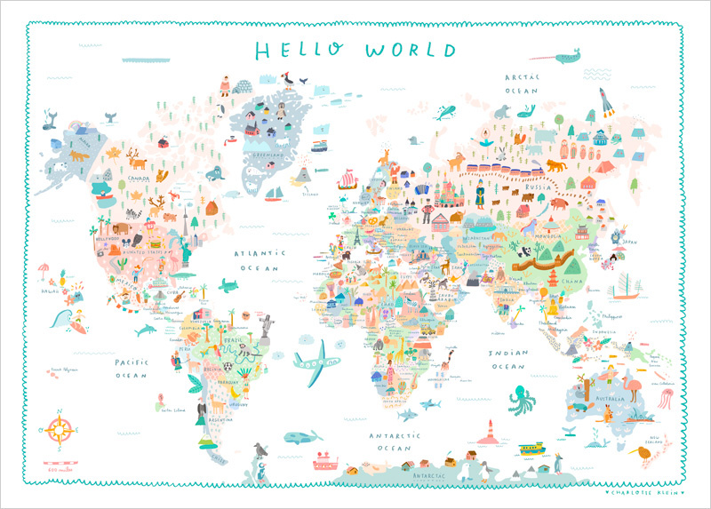 world map charlotte klein