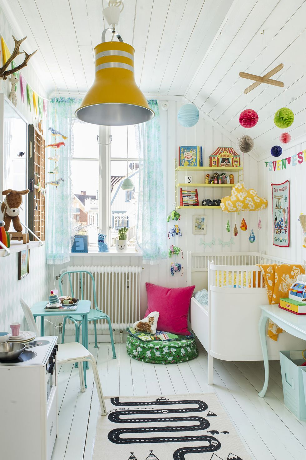 A family home in pastel
