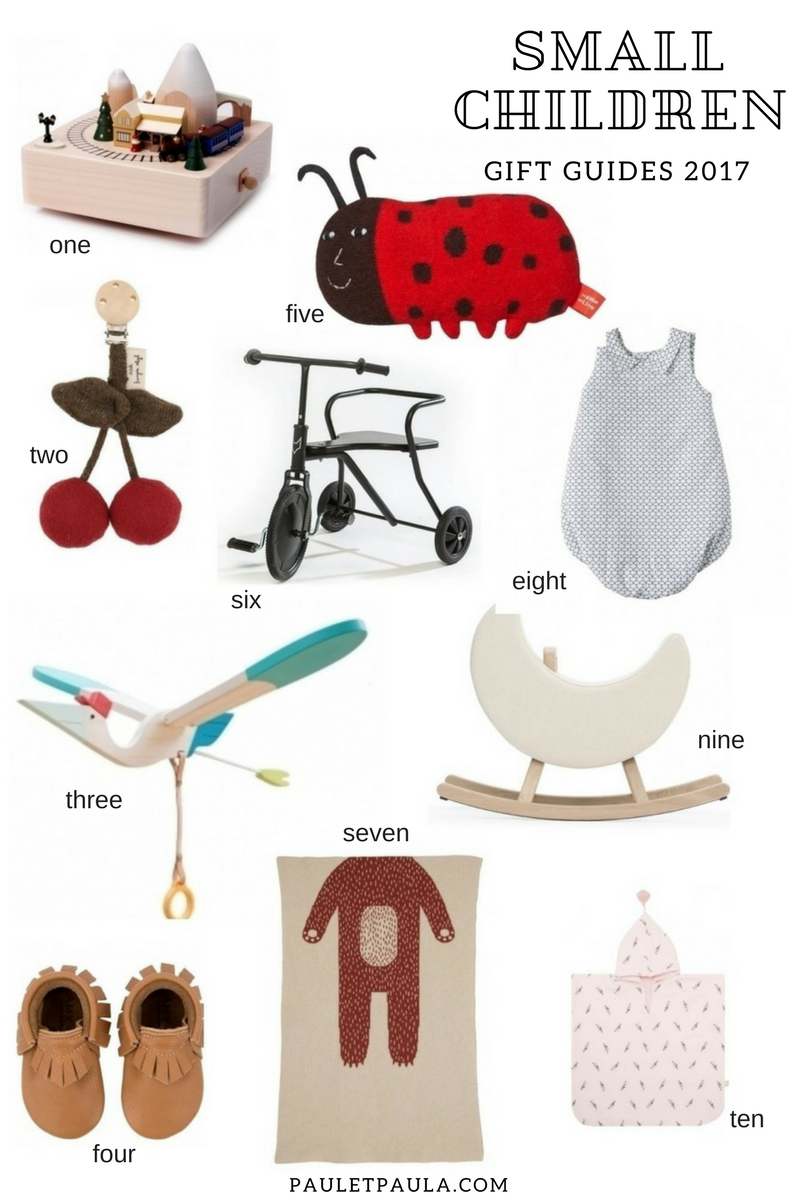 Gift Guides 2017 - small children