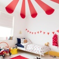 Fun kids rooms with a touch of red