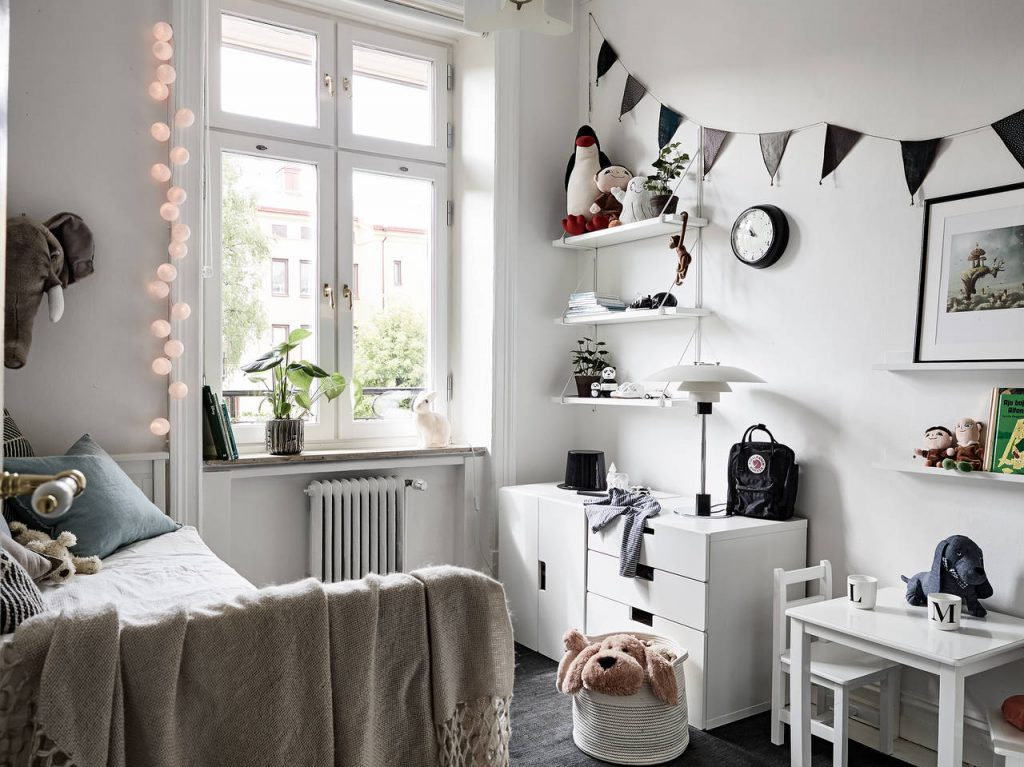 grey kids room
