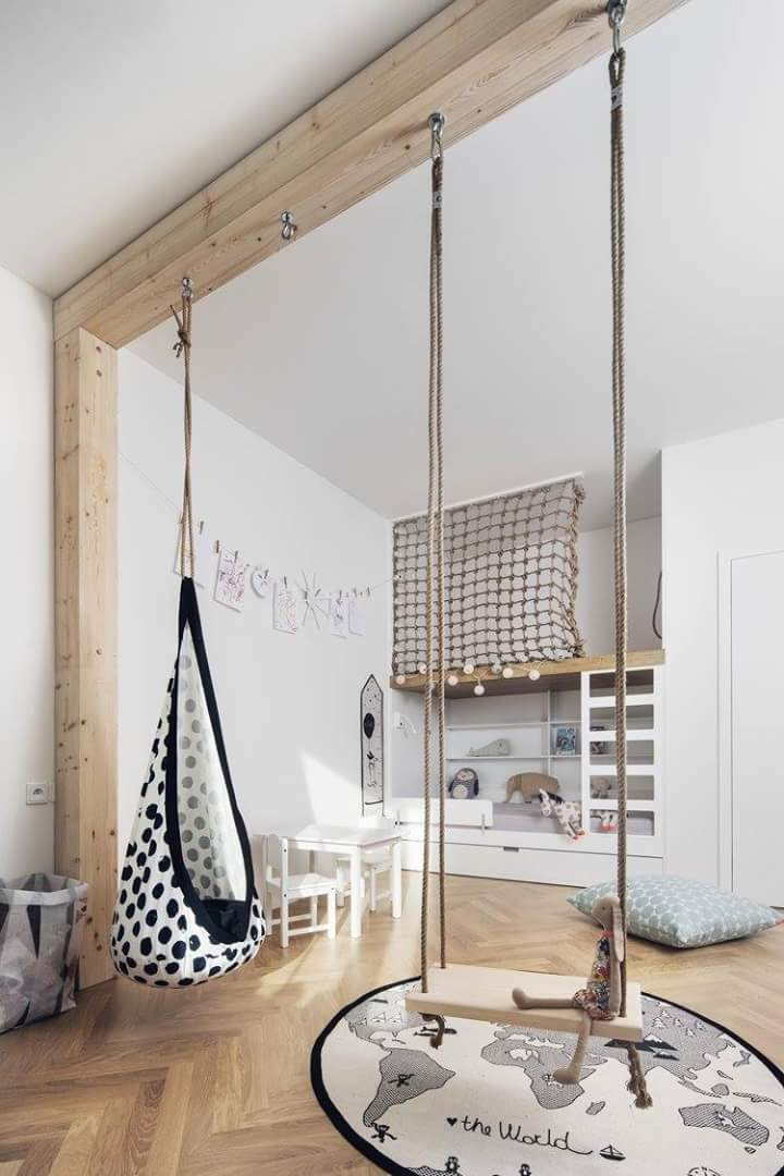 Cool indoor swings for the kids room