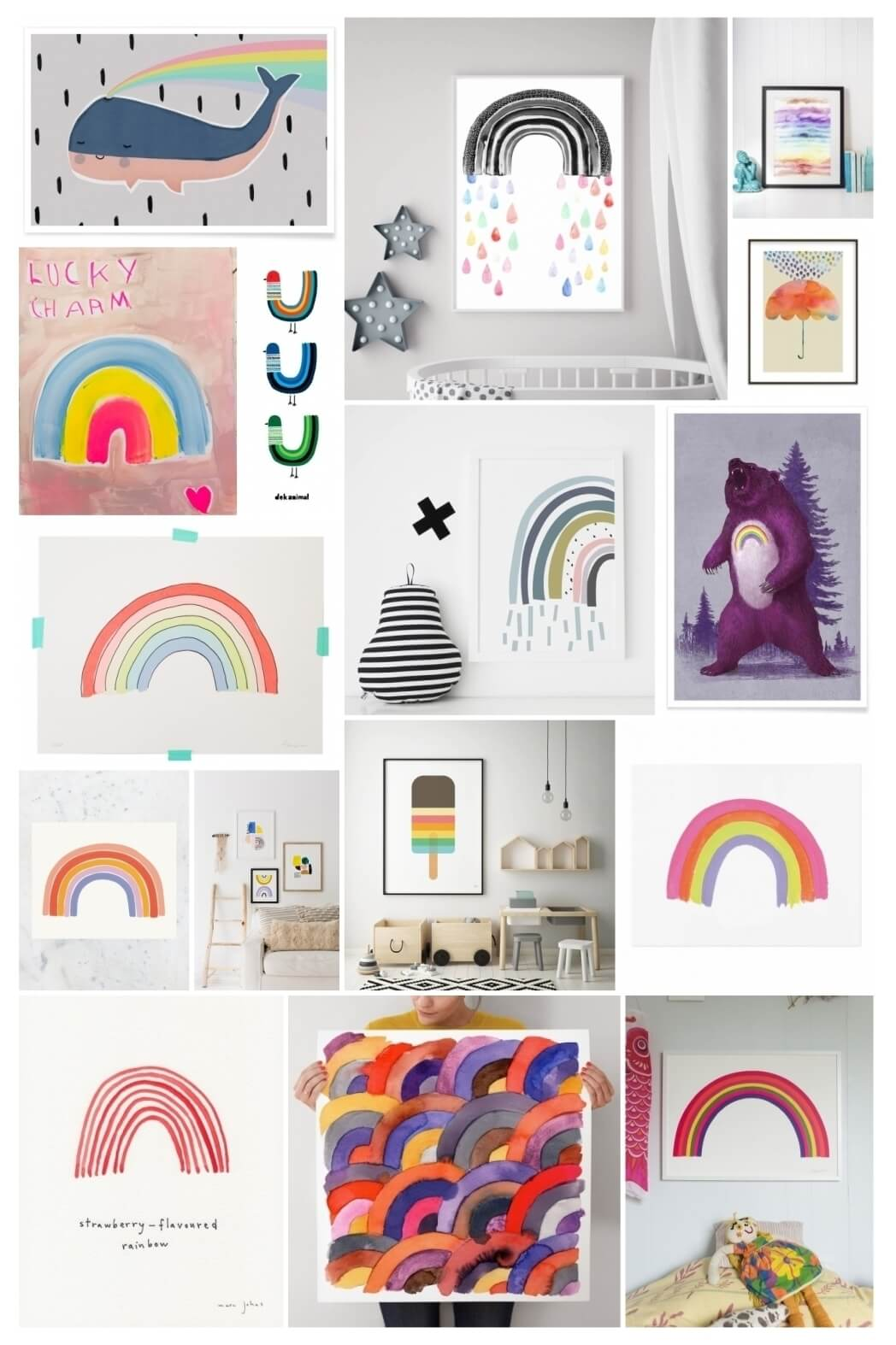 The Best Rainbow Prints For The Kids Room