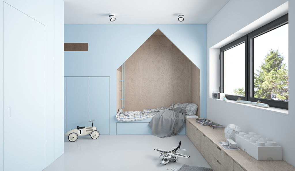kids room blue