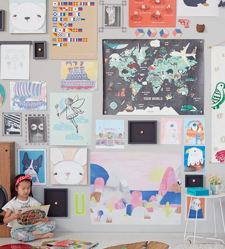 kids wall art gallery