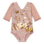 Butterflies Leotard Pale pink