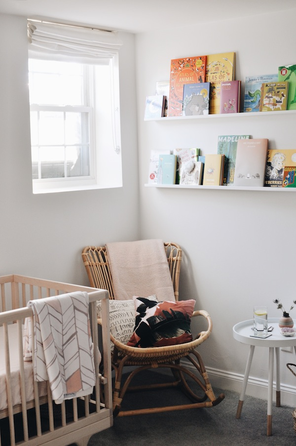 natural nursery for a baby girl