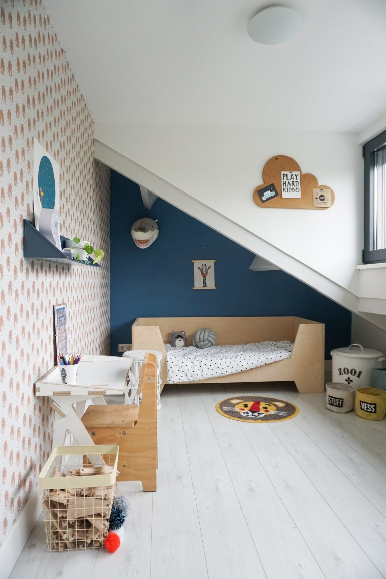 A lovely neutral boys room with tigers