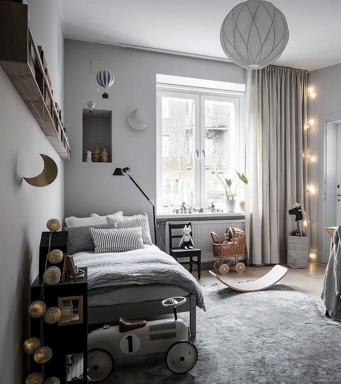 Paul & Paula: Soft grey shades in this stylish children's room