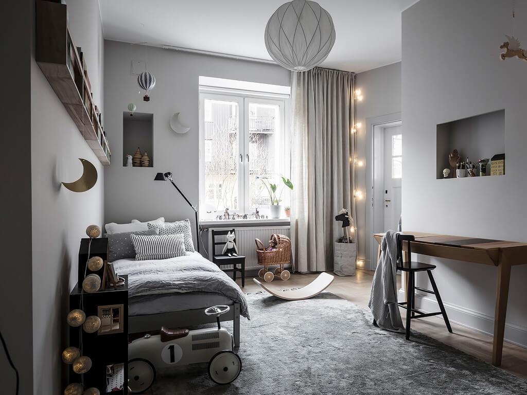 Paul & Paula: Soft grey shades in this stylish children's room
