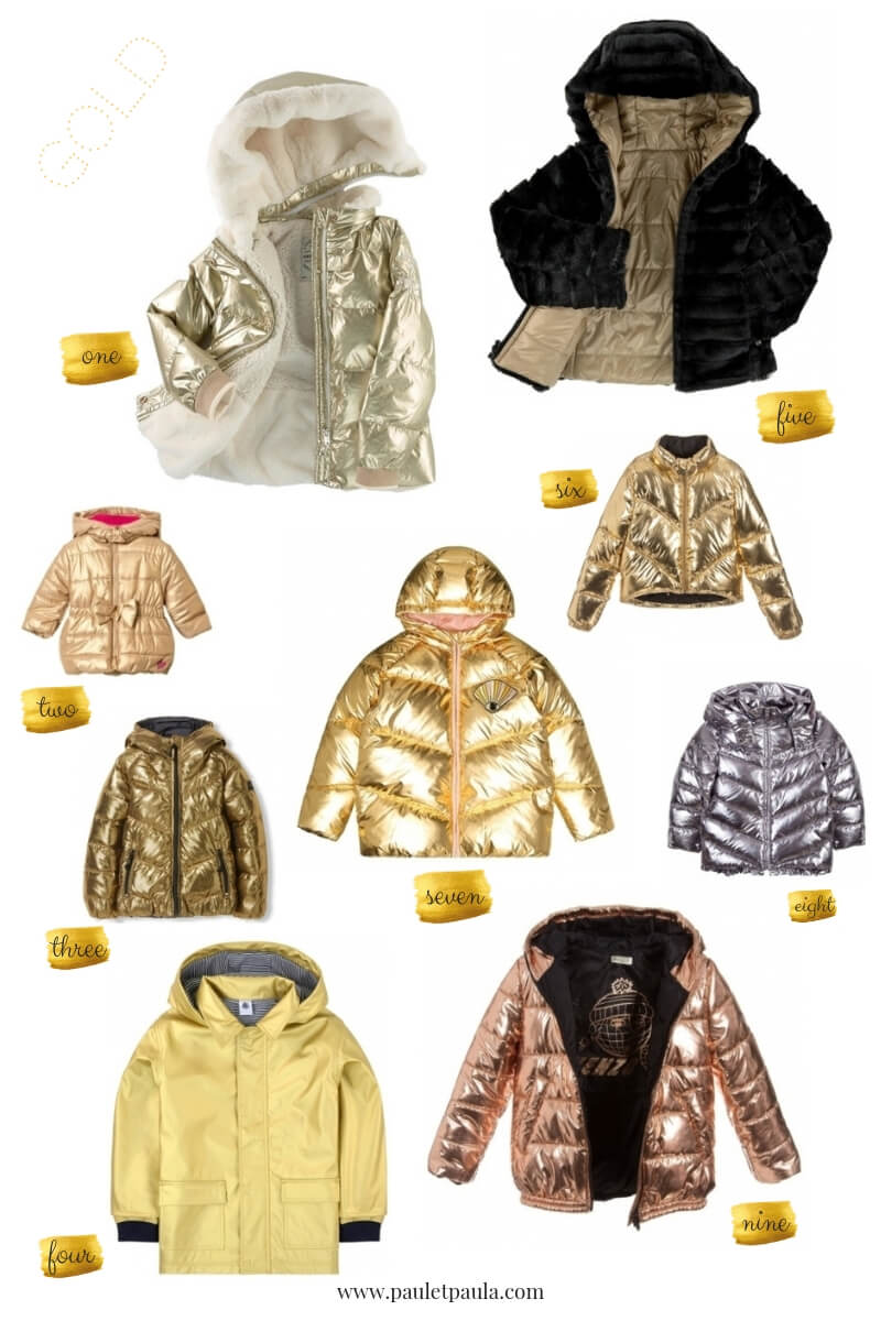 Paul & Paula: the golden jacket is the must have for this winter kids!