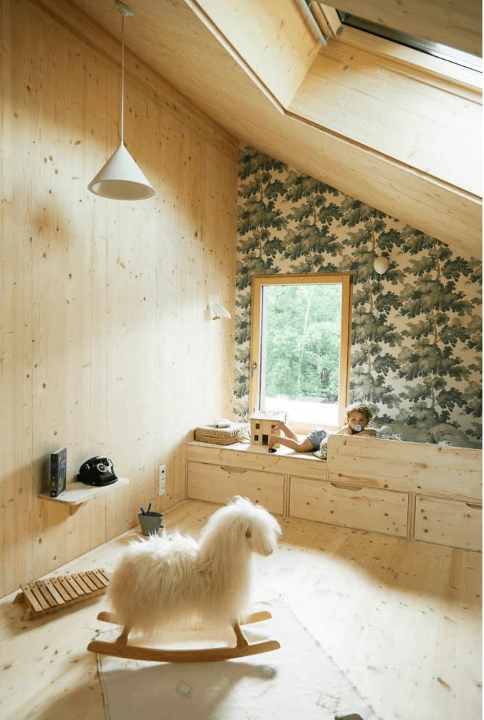 natural playroom decor