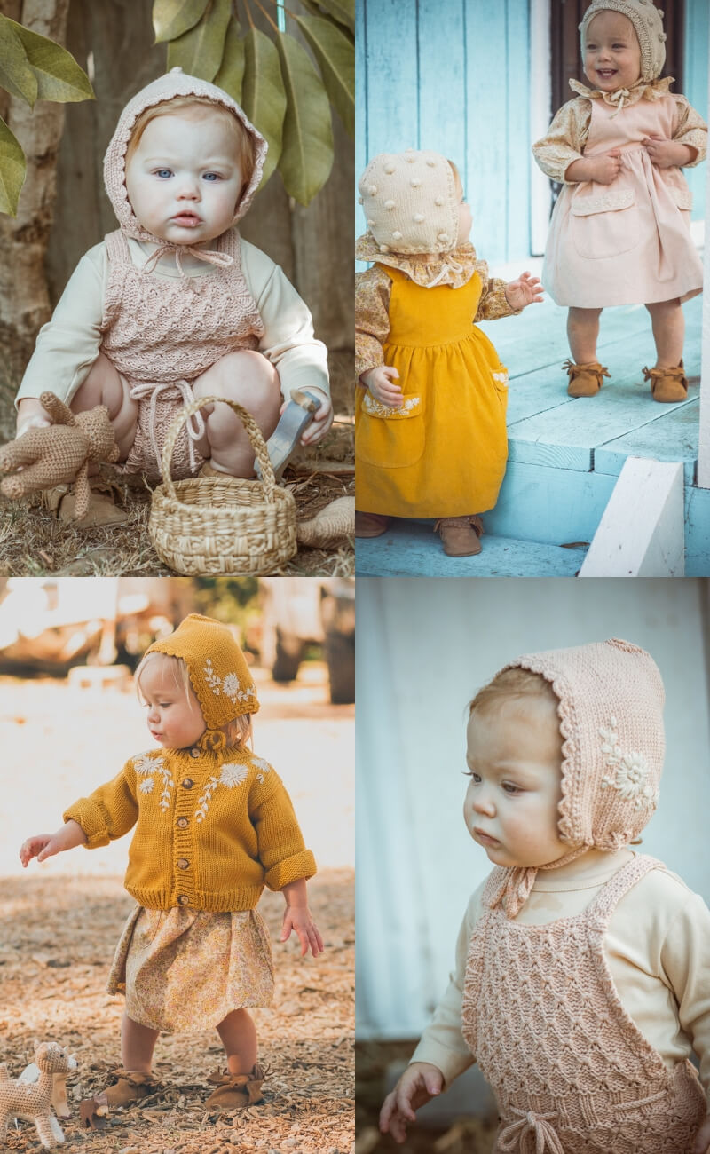 Stunning embroidered knitwear for the little ones