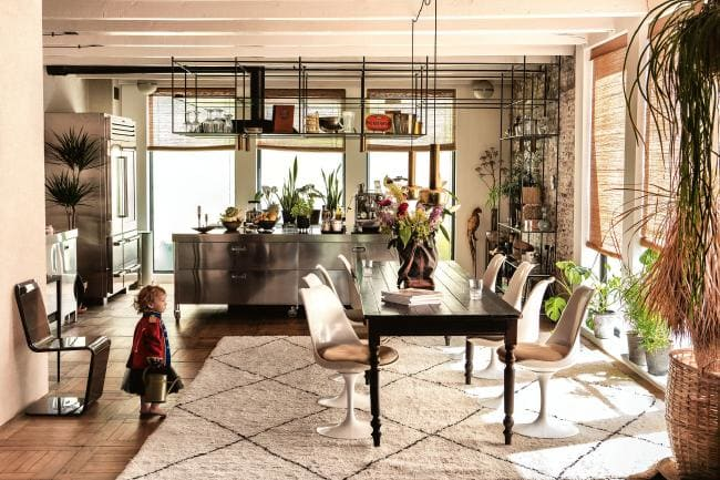Amsterdam warehouse gone family home with lots of vintage treasures