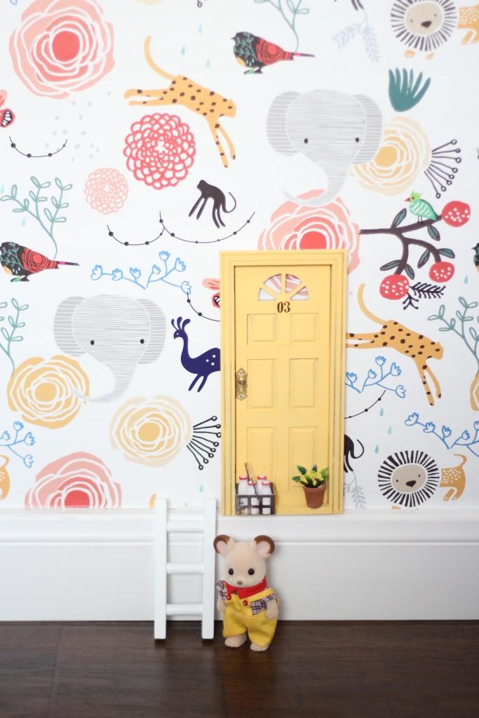 tiny door for sylvanian in kids room