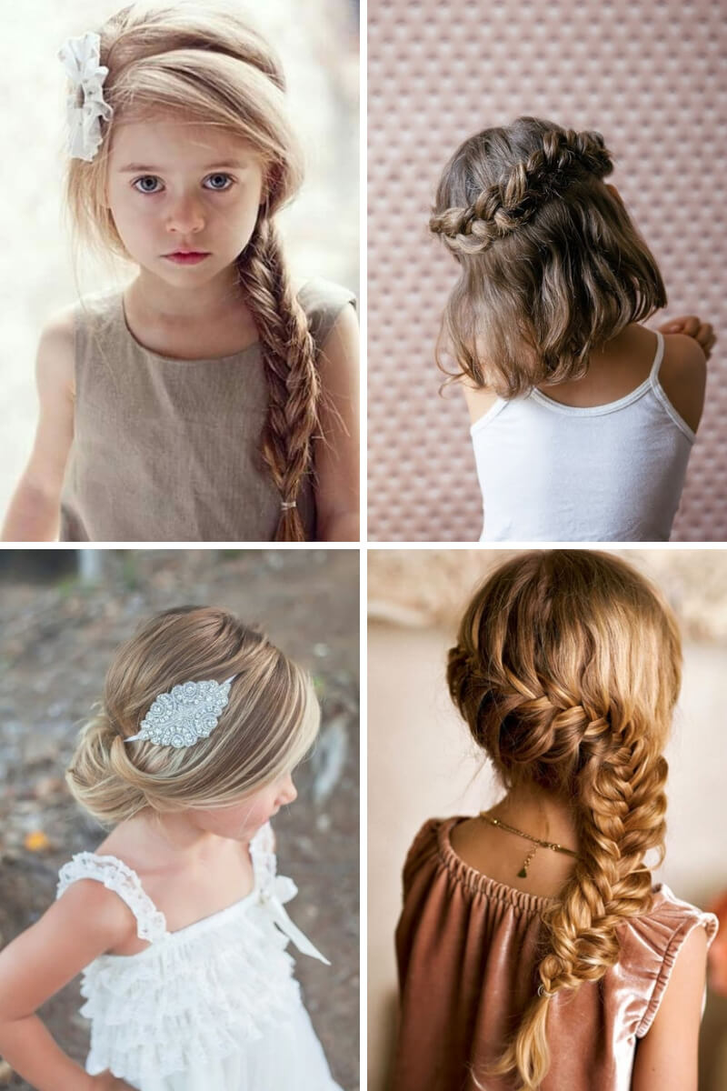 8 simple and festive hairstyles for children