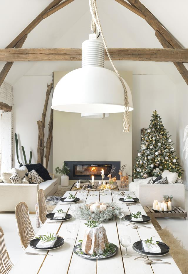 A French barn in full Christmas decoration