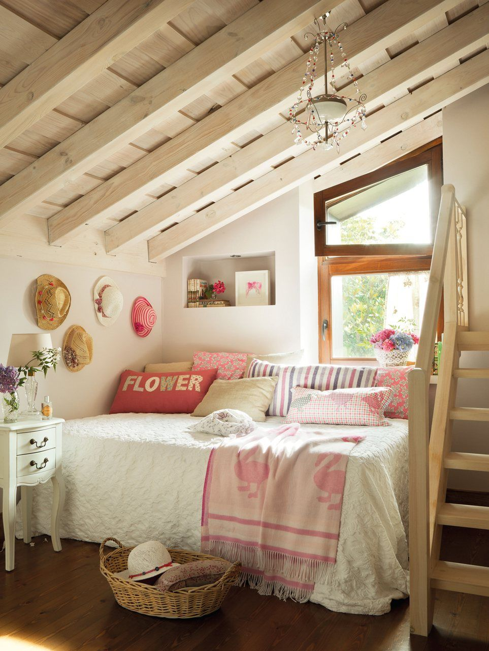 romantic attic room kids