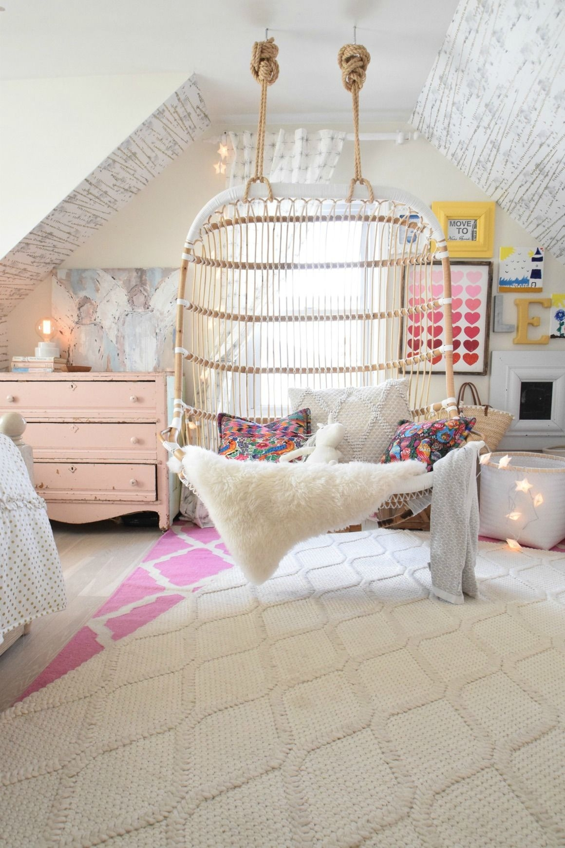teenage girl attic bedroom ideas Awesome Love in the form of our new Hanging Chair e day