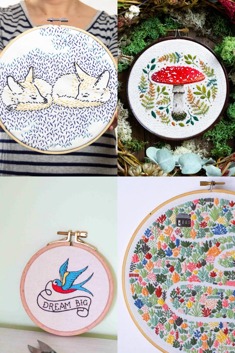 Paul & Paula: The bestembroidery hoops for the children's room