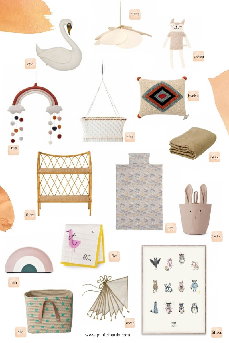 Accessories for a natural kids room!