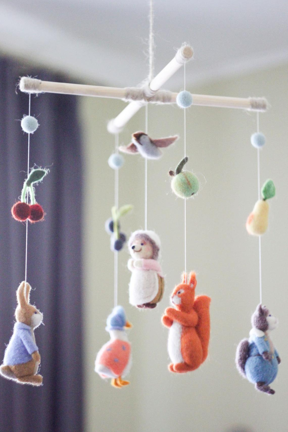 beatrix potter baby mobile