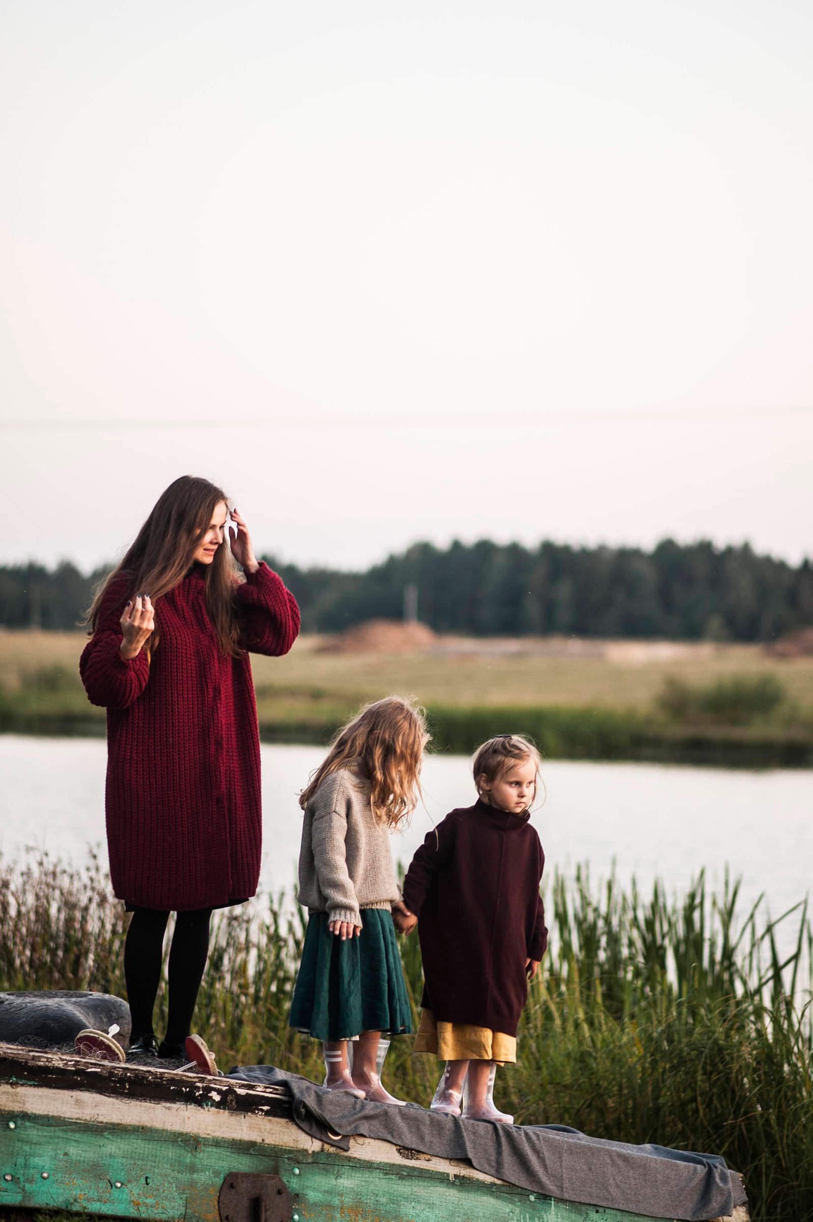chunky cardigans for the little ones and mum too