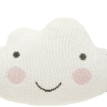 Knitted cloud pillow