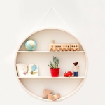 round kids shelf