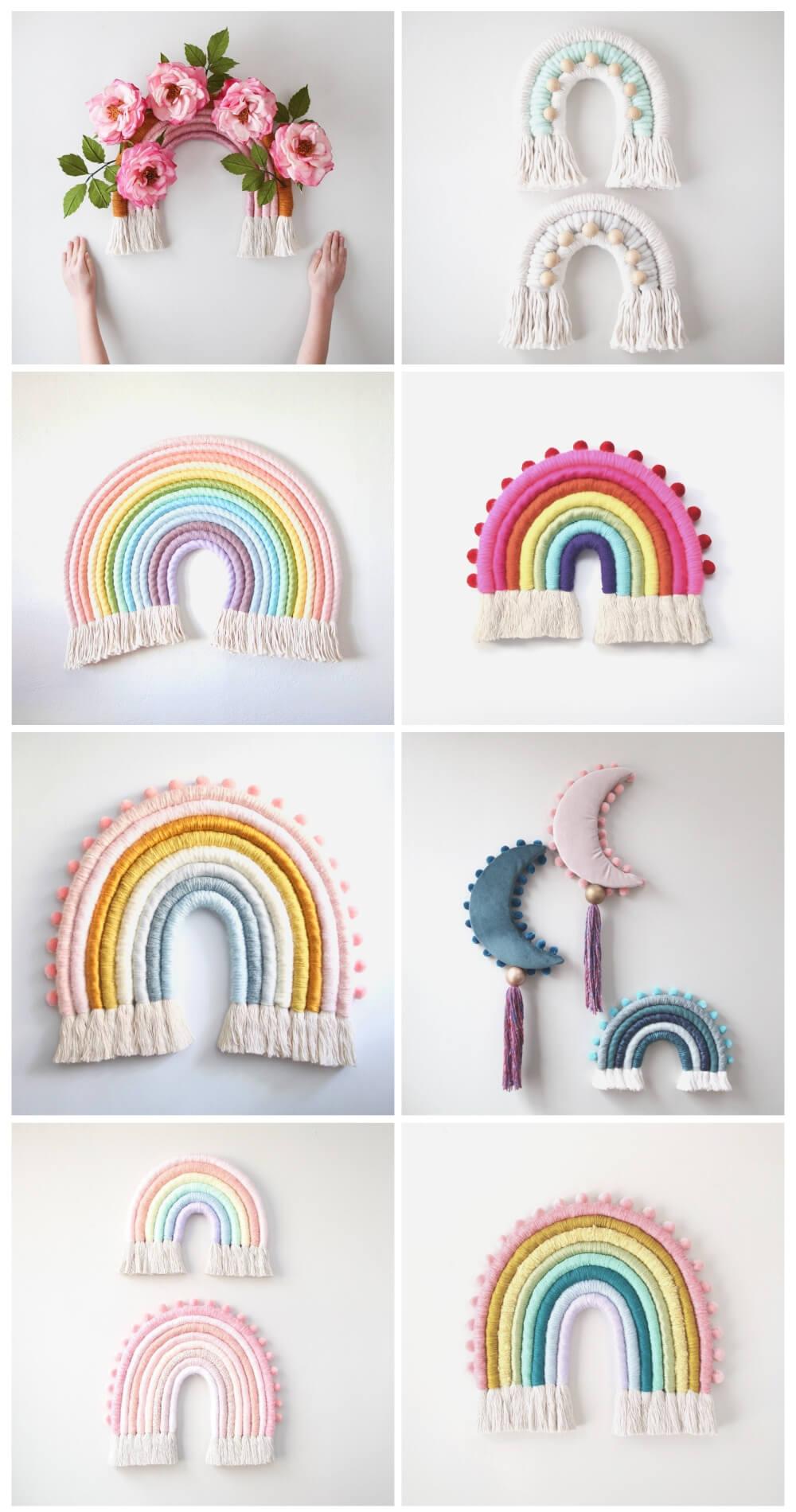 Rainbow fiber art mandi smethells
