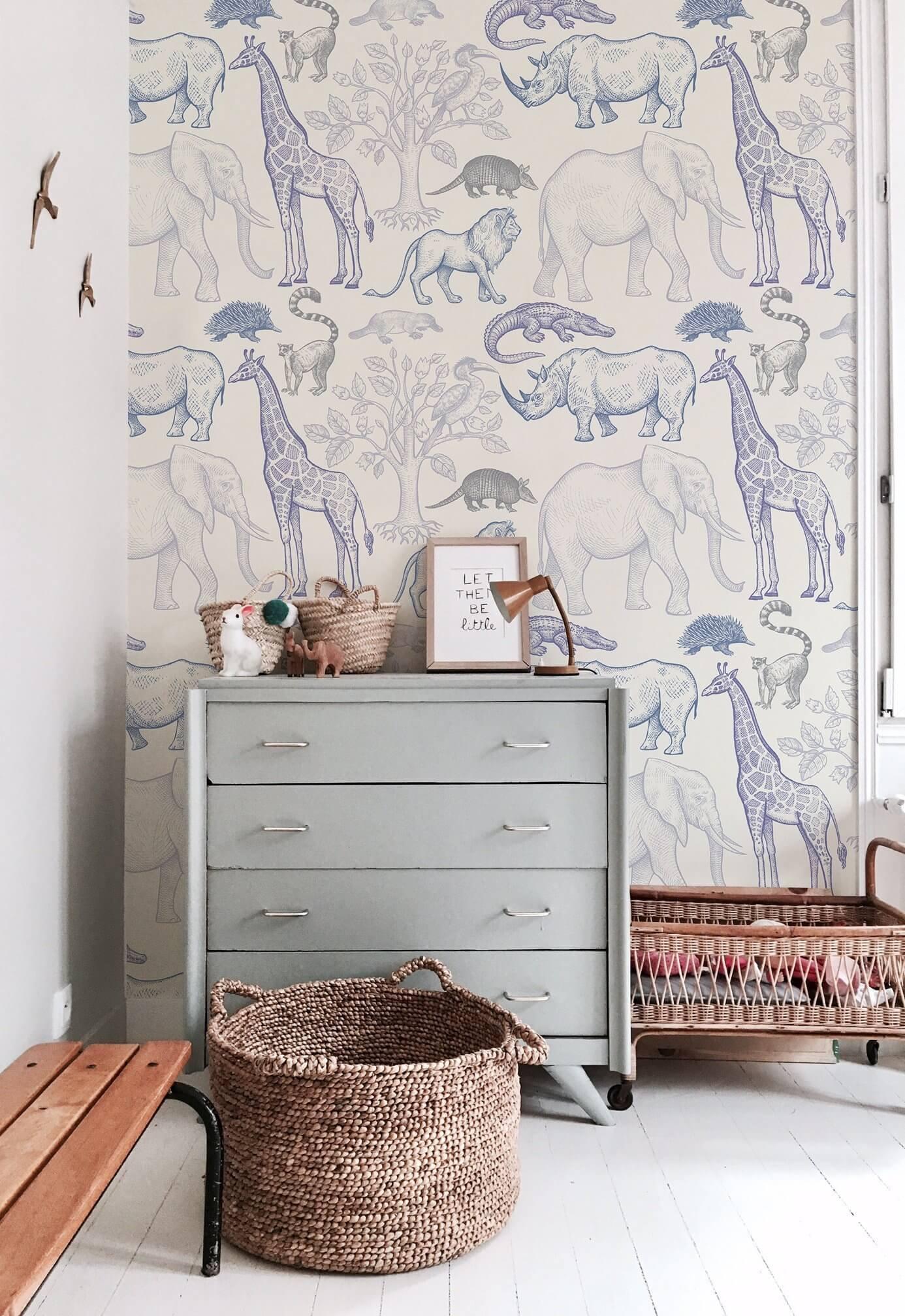jungle wallpaper kids room