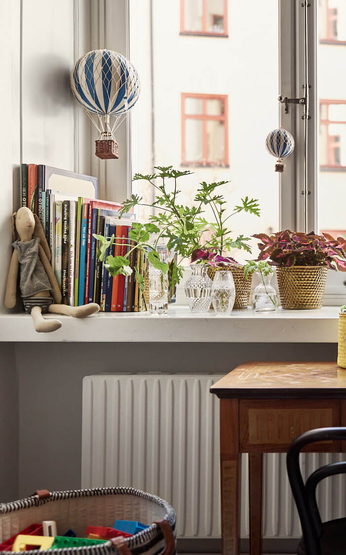 Stockholm family apartment with vintage features