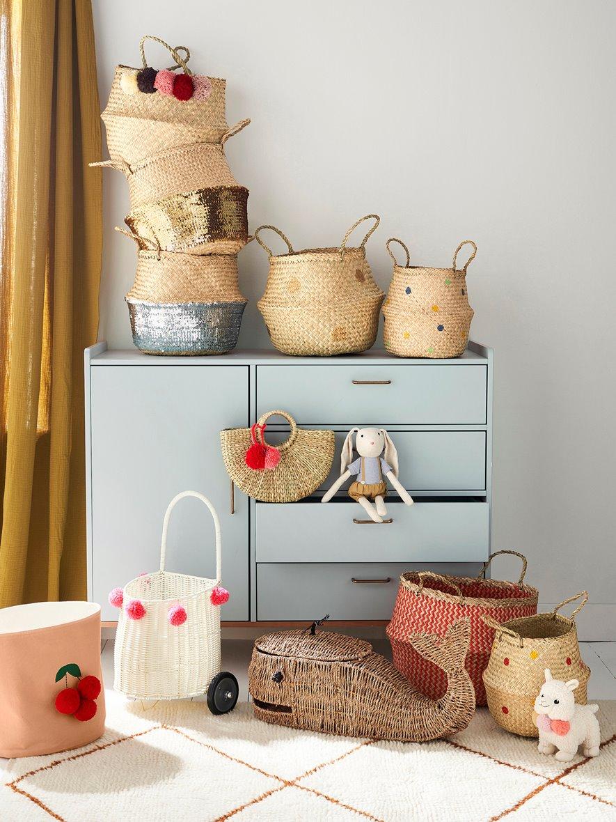 baskets kids room