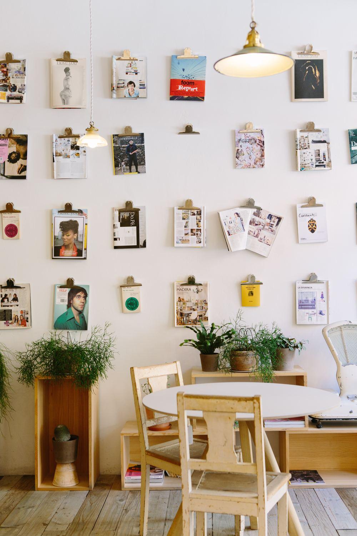 magazine wall display