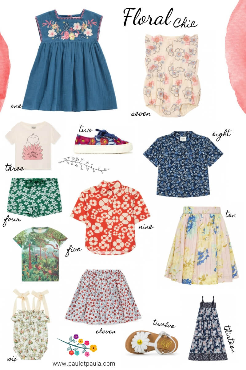 Spring Florals for children