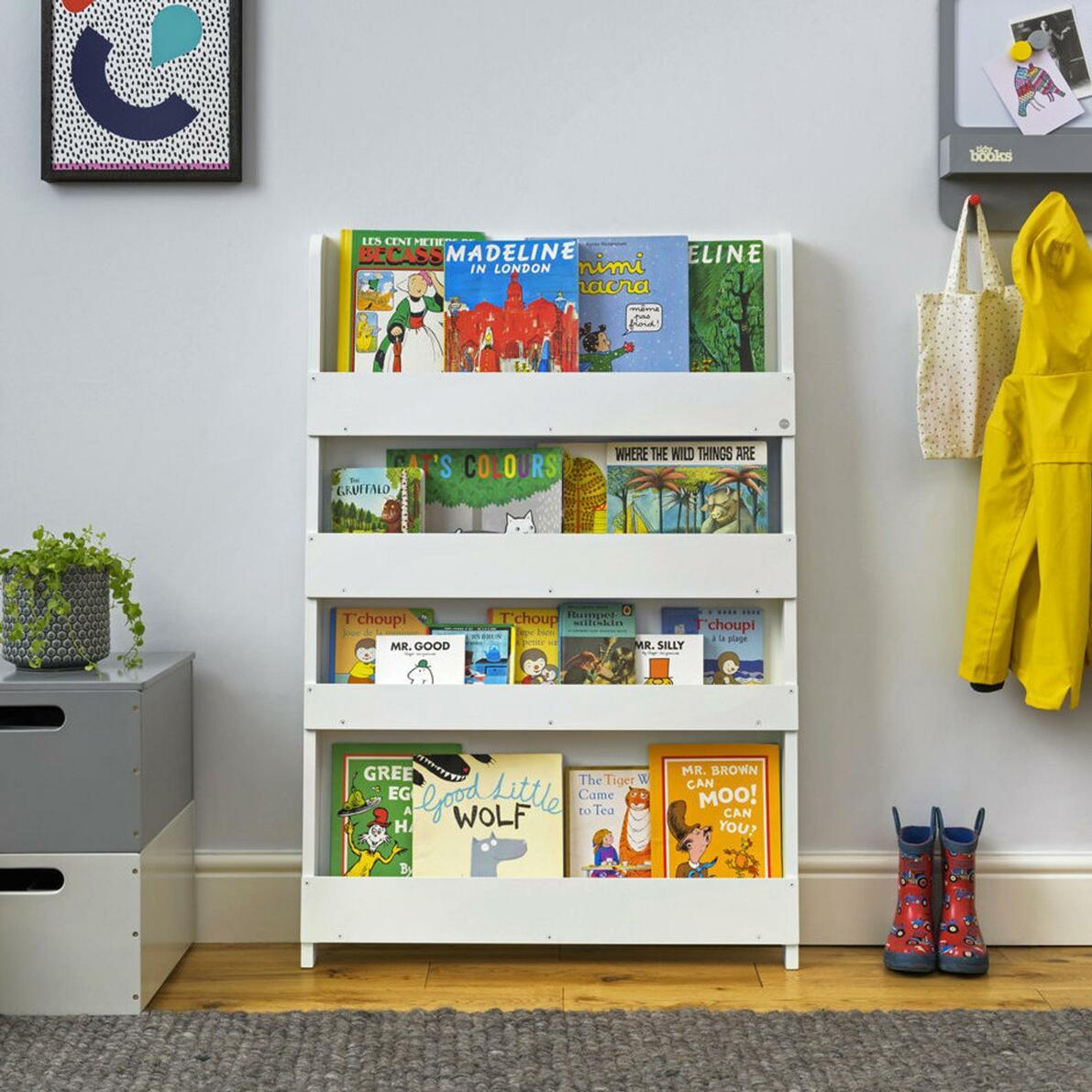 children bookshelf tidy books
