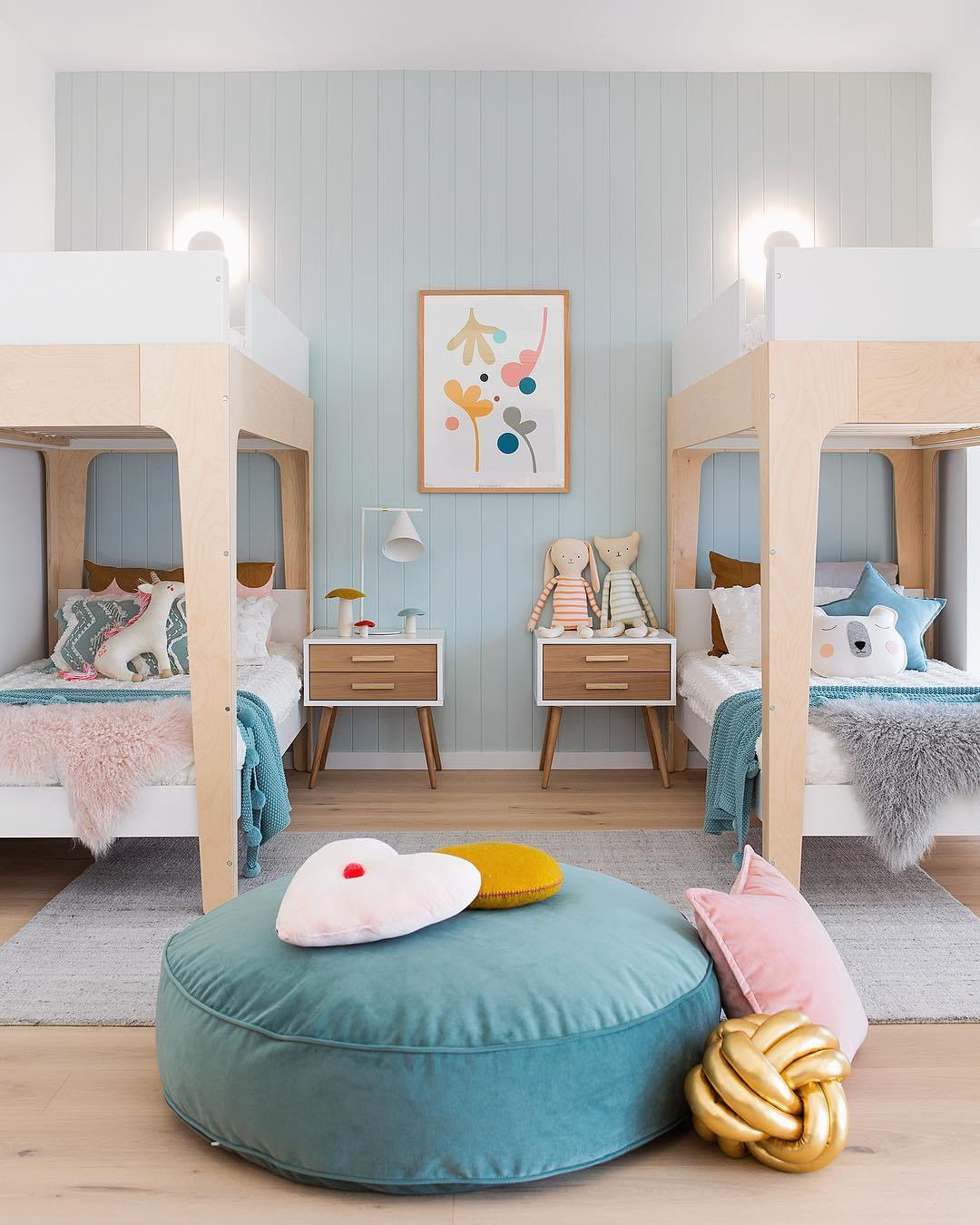 shared kids room bunk beds